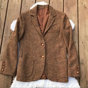 Vintage Levi Strauss Womens Wool Tweed Blazer